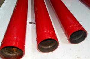 Полімерне (порошкове) фарбування труб, виробів, профілів