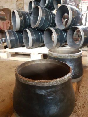 Перехід сталевий ексцентричний ДН 325х8-159х4,5 (ДУ 300*150) з дво-тришаровим антикорозійним покриттям (дуже посилений тип)