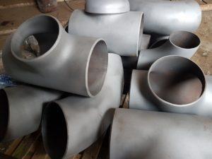(УКР) Трійник сталевий рівнопрохідний ДН 273і10 (ДУ 250) з дво-тришаровим антикорозійним покриттям (дуже посилений тип)