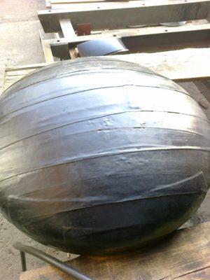 (УКР) Заглушки сталеві еліптичні ДН 820х14 (ДУ 800) з двошаровим антикорозійним покриттям (дуже посилений тип)