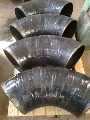 (УКР) Відведення сталеве ДН 219мм х 5мм (ДУ 200) з дво-тришаровим антикорозійним покриттям (дуже посиленого типу – вус)