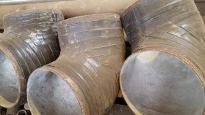 Отвод стальной ДН 377мм х 8мм (ДУ 350) с двух-трехслойным антикоррозионным покрытием (весьма усиленного типа — вус)
