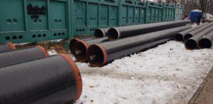 Труба ДН 377х,4,5,6 мм. ГОСТ (ДСТУ) 8696 спиралешовная изолированная монослойным, двух-трехслойным покрытием типа (ВУС)